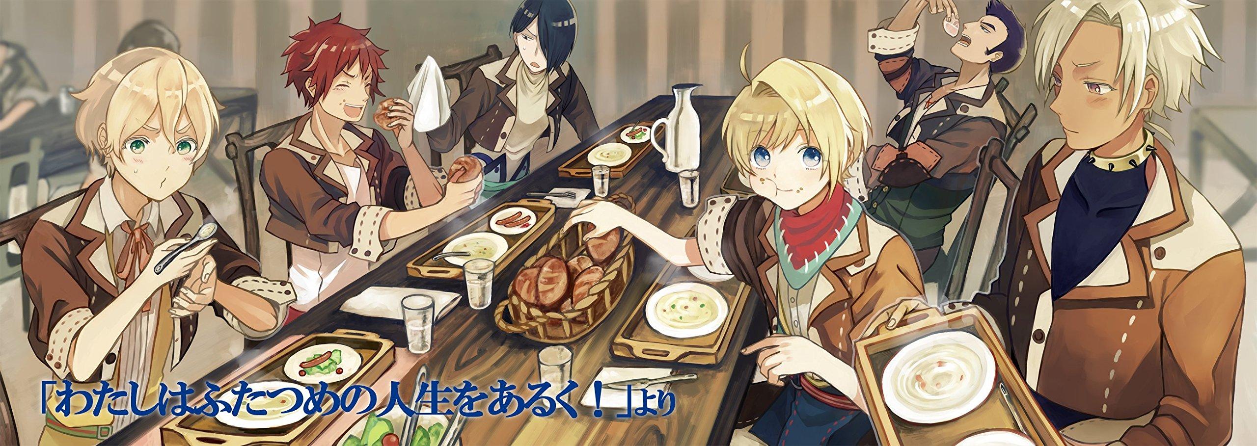 Everyone eating dinner.