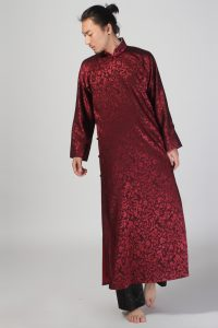 Wood-bird-men-s-clothing-long-gown-Maroon-tang-suit-andquickly-male-clothing-chinese-style-clothes